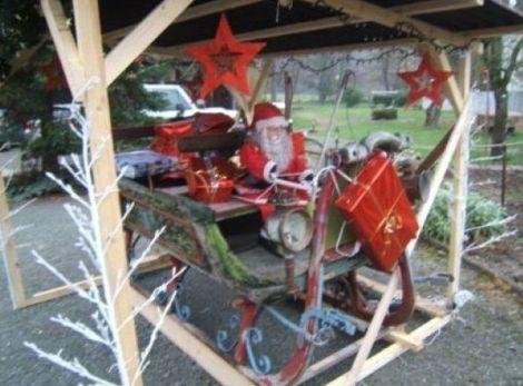 L'authentique traîneau du Père Noël à Diefmatten