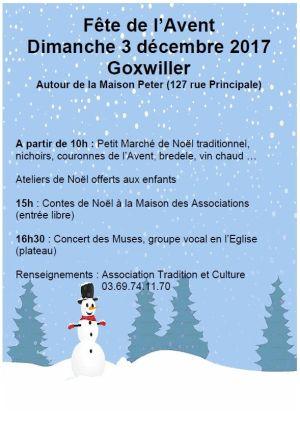 Noël 2017 à Goxwiller : Fête de l\'Avent