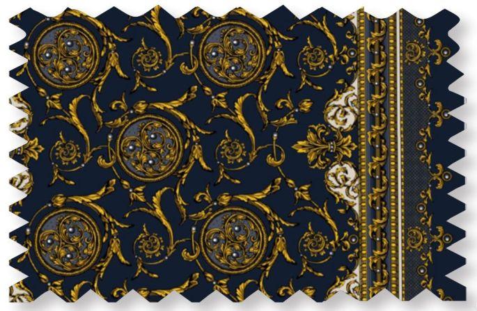 Acanthus festis, l\'étoffe créé par Marie-Jo Gebel pour l\'édition 2017 du Noël mulhousien