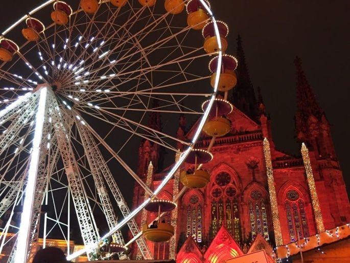 La grande roue, symbole du Marché de Noël de Mulhouse