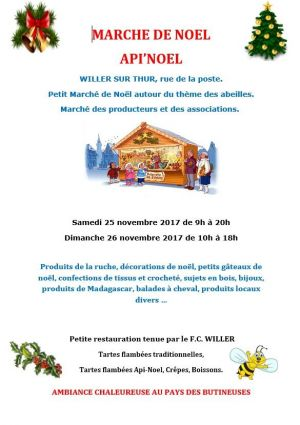 Noël 2017 à Willer-sur-Thur : Api\'Noël chez les butineuses