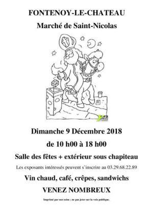 Noël 2018 à Fontenoy-le-Château : Marché de Saint-Nicolas