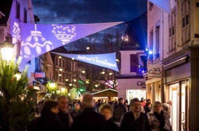 Les lumières du Marché de Noël de Haguenau