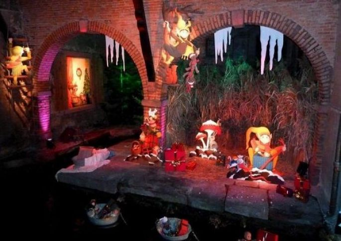 Illumination et décoration au Marché de Noël à Kaysersberg