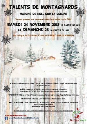 Noël 2018 à Kruth : Marché de Noël «Talents de Montagnards» au Frenz