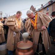 Noël 2018 à Munster : Partage de la soupe au Munster