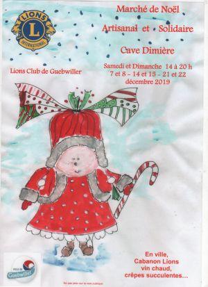 Noël 2019 à Guebwiller : Marché de Noël de l\'artisanat du Lions Club
