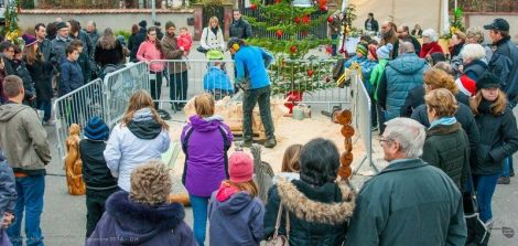 L\'ambiance du Village de Noël de Gerstheim