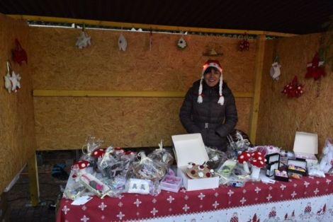 L\'un des stands du Marché de Noël à Hirtzbach