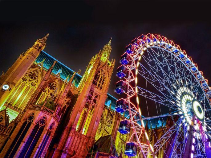 La grande roue de la ville de Metz, l\'une des attractions phares de Noël