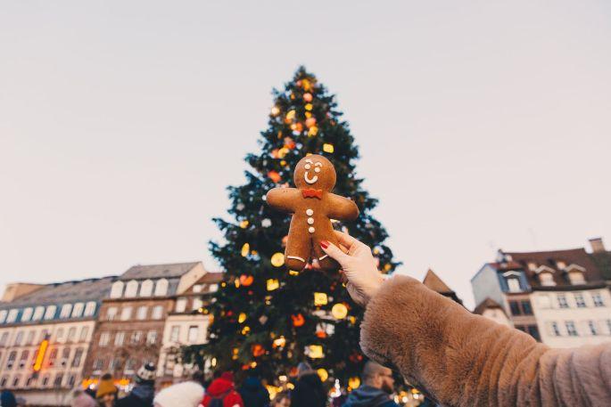 L\'emblématique sapin de Noël de la Place Kléber à Strasbourg,