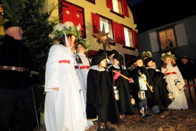 Sainte Lucie, fête de la lumière, à Turckheim