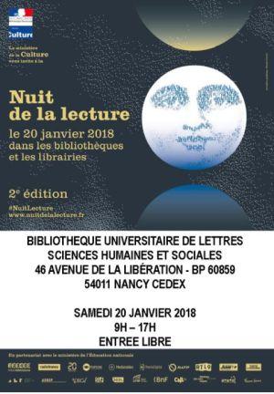 Nuit de la Lecture 2018 à Nancy