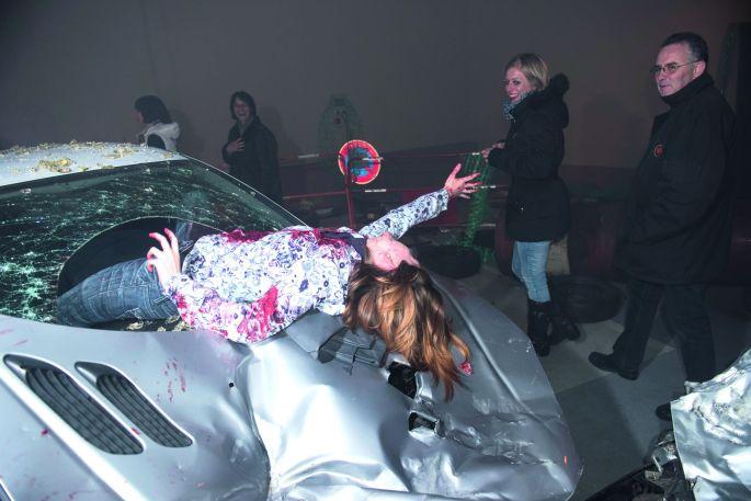 Femme au volant...