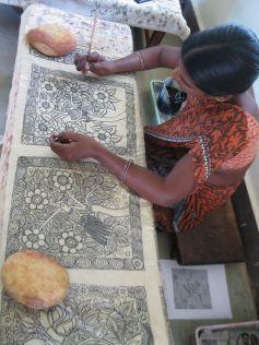Exposition O\'Kalamkari de l\'association Help India Trust