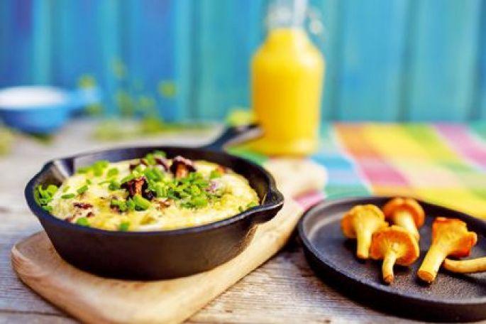 Omelette aux champignons d'automne