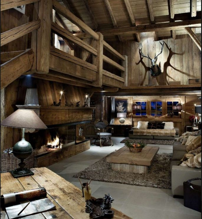 d co cr er une ambiance de chalet de montagne. Black Bedroom Furniture Sets. Home Design Ideas