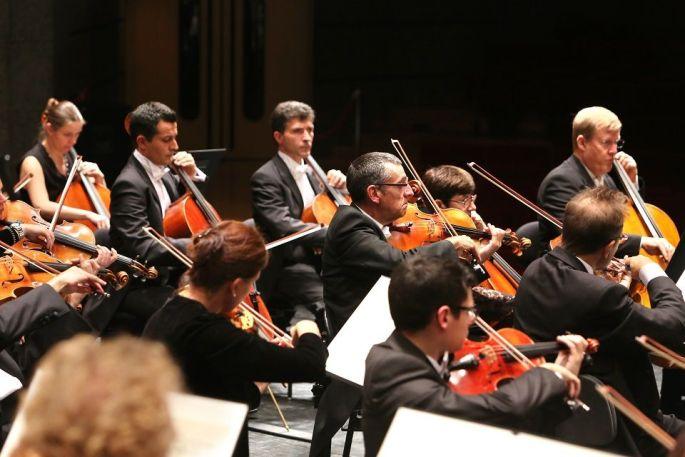 Les violons de l\'Orchestre Symphonique de Mulhouse