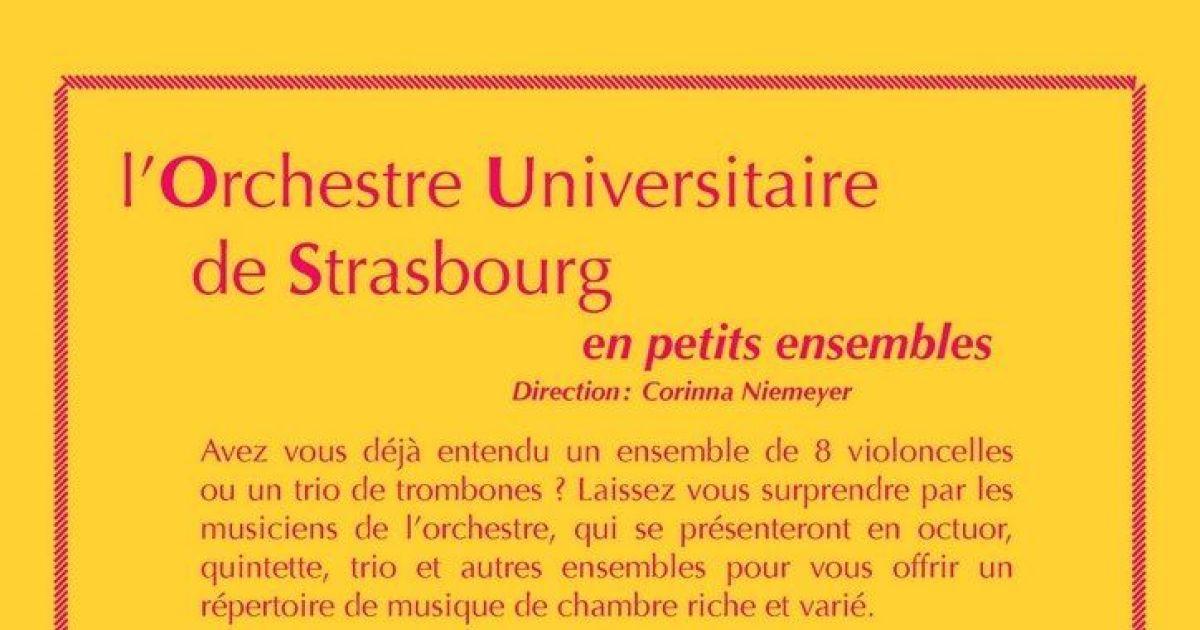 Orchestre universitaire de strasbourg en petits for Maison de l emploi strasbourg