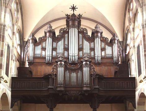 L\'orgue Roethinger de l\'église St Martin à Erstein