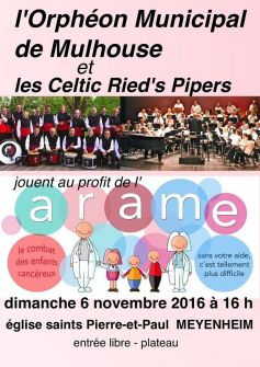 Orphéon municipal de Mulhouse et les Celtic Ried\'s Pipers