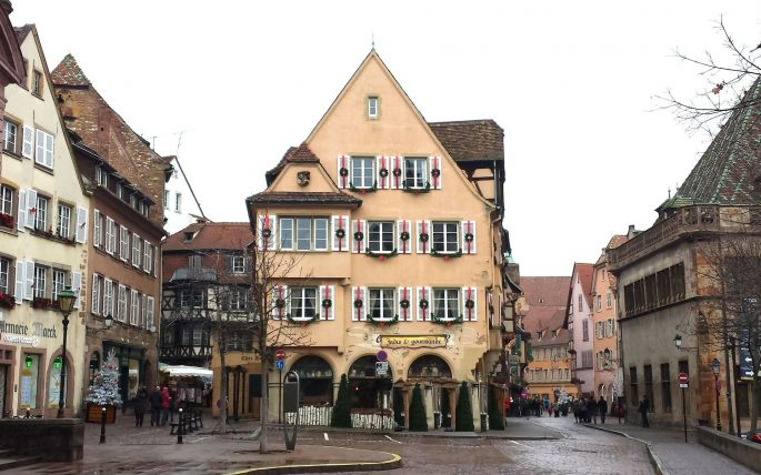 Les rues du centre ville de Colmar