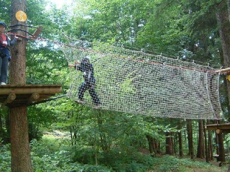 Des parcours pour tous les niveaux au Parc Arbre Aventure situé dans les Vosges