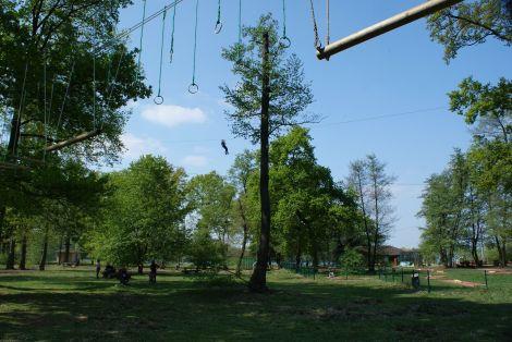 L\'accrobranche, l\'activité phare du Parc Aventures de Brumath
