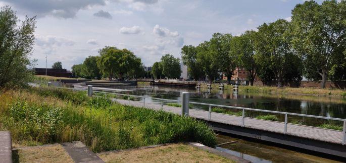 Le parc du Heyritz et son ponton géant