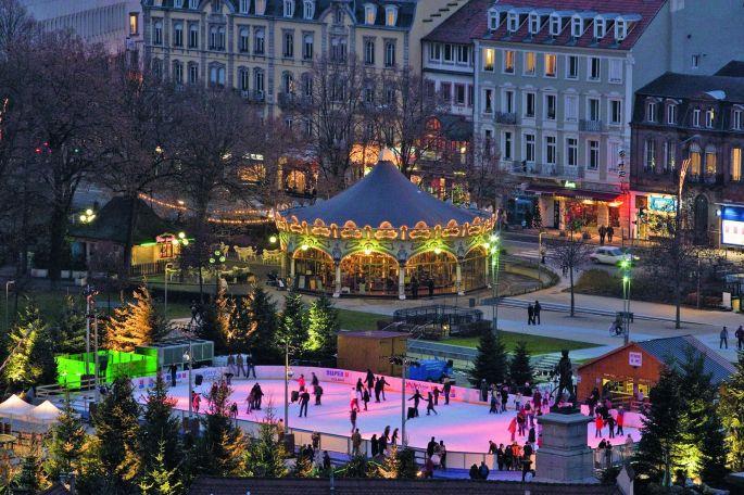 Patinoire de Noël à Colmar