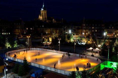 La patinoire de Noël de Colmar