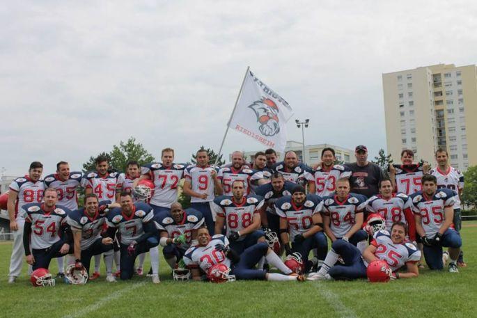 L\'équipe des Patriotes de Riedisheim, club de football américain & cheeleading