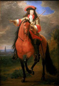 Peinture de Van der Meulen représentant Louis XIV devant Strasbourg, avant sa prise.