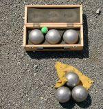 La pétanque, sans doute le sport de boules le plus pratiqué en Alsace.