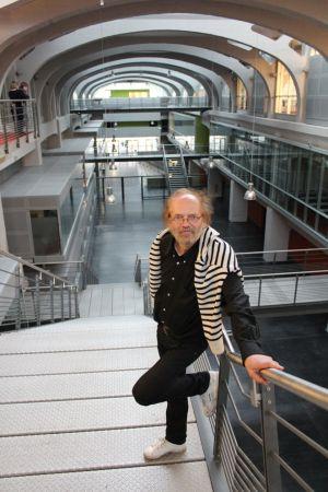 Pierre Fluck sur le site reconverti de la Fonderie