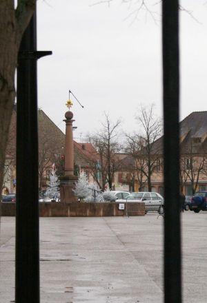 La Place d\'Armes, place centrale de Neuf-Brisach