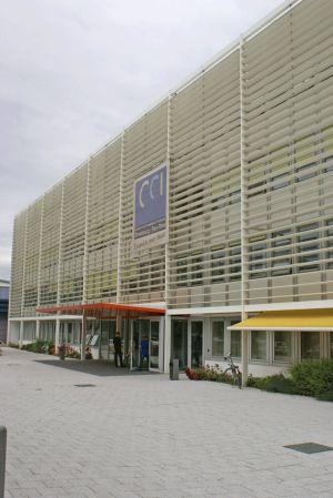 Accès principal du CCI Campus, avenue de Colmar