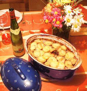 Recette traditionnelle du baeckeofa ou Baeckeoffe, la potee-alsacienne-aux-trois-viandes