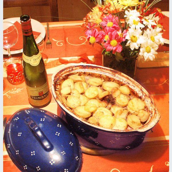 recette du baeckeoffe ou baeckeofa la pot e alsacienne aux 3 viandes ingr dients temps de. Black Bedroom Furniture Sets. Home Design Ideas