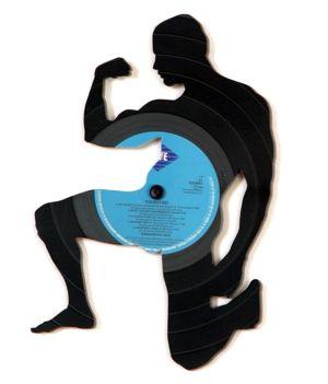 <p>Disque vinyle recyclé. Design: Carlos Aires - Espagne</p>