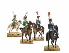 Théodore Carl, Commandants et colonel du régiment de la Tour d'Auvergne (en vert) et de l'Infanterie légère (en bleu ; 1813) Strasbourg, Musée Historique