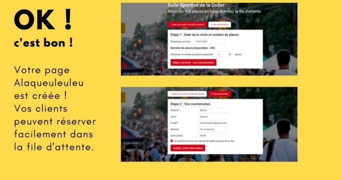 La page de réservation est en ligne