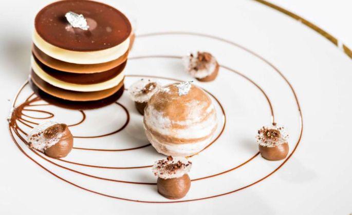 Un dessert tout en élégance du restaurant 1741