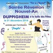 Réveillon de la Saint-Sylvestre 2014-2015 à la Salle des Fêtes - Duppigheim