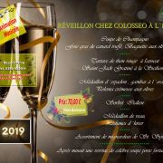 Réveillon de la Saint Sylvestre 2018-2019 à Bartenheim - Colosseo