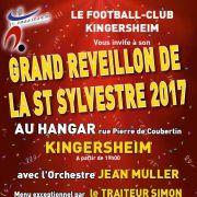 Réveillon de la Saint Sylvestre 2017-2018 à Kingersheim - Le Hangar