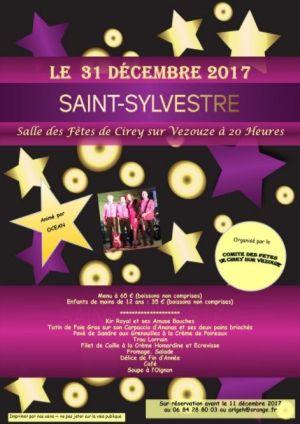 Réveillon du Nouvel an 2017-2018 à Cirey-sur-Vezouze - Salle des Fêtes