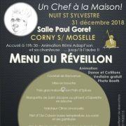 Réveillon du Nouvel an 2018-2019 à Corny-sur-Moselle - Salle Paul Goret