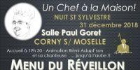 reveillon du nouvel an 2018-2019 a corny-sur-moselle - salle paul goret