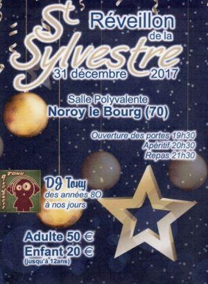 Réveillon du Nouvel an 2017-2018 à Noroy-le-Bourg - Salle polyvalente